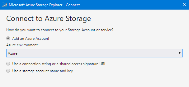 Connect Azure Storage